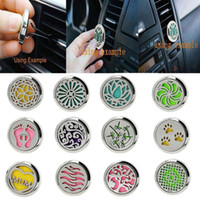 Wholesale essential oil packaging - Car Perfume Clip Home Essential Oil Diffuser For Car Locket Clip Stainless Steel Car Air Freshener Conditioning Vent Clip 30mm wholesale