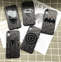 Wholesale Iphone Superhero Cases - New Black Cartoon Superhero Spider Superman Bat Soft TPU Silicone Rubber Phone Case Cover For iPhone X 6s 7 8 plus