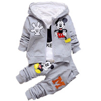 Wholesale baby boys clothes online - Children Boys Cartoon Clothes Suits Baby Boys Girls Hooded Jacket Pants Sport Kids Clothing Sets Yrs