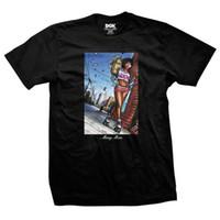 camisa de dinero negro al por mayor-Camiseta DGK para hombre con dinero Camiseta negra para hombre Camiseta Streetwear Ropa para hombre