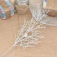 ingrosso rami di rami-Haochu 10 pz / lotto 13 * 40 cm foglie di fiori di natale albero corona rami artificiali ramoscelli unico casa soggiorno arredamento artigianato