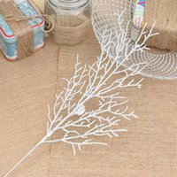 Wholesale christmas wreath wholesalers - Haochu 10pcs  Lot 13 *40cm Christmas Flower Leaves Tree Wreath Artificial Branch Twigs Unique Home Living Room Decor Crafts