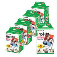 fuji mini venda por atacado-20 folhas Fujifilm Instax Mini 8 filme para Fuji 7s 9 70 25 50 s 90 instantânea Photo Camera branco FilmShare SP-1 SP-2