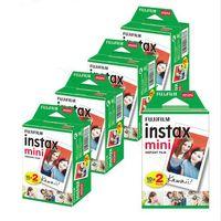 peliculas para instax mini al por mayor-20 Láminas Fujifilm Instax Mini 8 película para Fuji 7s 9 70 25 50s 90 Instant Photo Camera White FilmShare SP-1 SP-2