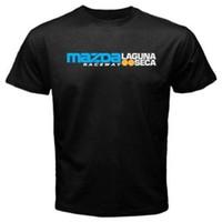 circuito t venda por atacado-Laguna Seca Raceway Circuit Corrida Novos T-Shirts Pretas 2018 verão novos homens de algodão T-shirt de manga Curta Marca tops Moda