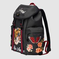 mochila de lujo marca al por mayor-Marca de lujo, mochila de diseño, mochila de alta calidad, bolsa de viaje de lona con bordado de alta tecnología, bolso de compras gratis