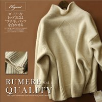 Wholesale wool winter sweaters for women - 2018 EUR American Style Womens Cashmere sweater Long Sleeve Turtle neck New Casual Sweater For Autumn Winter