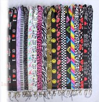 Wholesale musical butterfly resale online - New mix colors Butterfly Lanyard for Key chain ID Badge Holders Mixed Keys musical note Mobile Phone Neck Straps