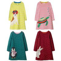 Wholesale girls clothes for sale - Kids Dress Jersey Baby Girl Dress 2018 Hot Sale Autumn 100% Cotton Dresses for Kids Clothing Baby Girl Clothes
