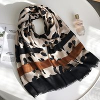 trendige schals großhandel-Sexy Leopard Gedruckt Viskose Schal Schal Frauen Trendy Herbst Winter Decke Schals Luxus Wrap Pashmina Stola