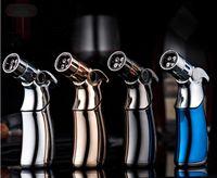 gasbrennerfeuer großhandel-Neue Ankunft Kreative Spray Butangas Feuerzeuge Feuerlöscher-Typ Nachfüllbare Metall Winddicht Zigarettenanzünder Fackel Feuer Grill Werkzeuge