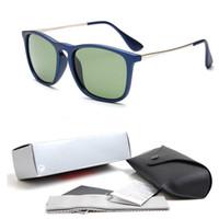 leopard eyewear großhandel-2018 Top Qualität Neue Mode 4187 Sonnenbrille Für Mann Frau Erika Brillen Designer Marke Sonnenbrille Matt Leopard Gradienten Objektive Box Fällen