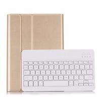 teclado ultra delgado bluetooth al por mayor-Nuevo 2017 para iPad 9.7 A1822 A1823 de alta calidad ultra delgado desmontable teclado Bluetooth inalámbrico cubierta de la caja