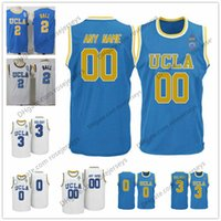 Wholesale Names Baby - Custom UCLA Bruins College Basketball blue baby white Personalized Stitched Any Name Number 0 Russell Westbrook 2 Lonzo Ball Jerseys S-3XL