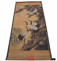 Wholesale chinese calligraphy paintings resale online - Antique Chinese painting scroll The fair figure Calligraphy and painting