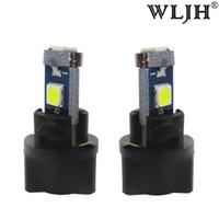 Wholesale led car light bulb socket - WLJH 7Colors Car T5 LED Dash Light Instrument Panel Cluster With Lamps Socket Twist Socket Holder LED Bulb 12V For Honda Fit