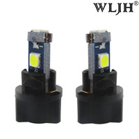 Wholesale light bulb holder fitting - WLJH 7Colors Car T5 LED Dash Light Instrument Panel Cluster With Lamps Socket Twist Socket Holder LED Bulb 12V For Honda Fit