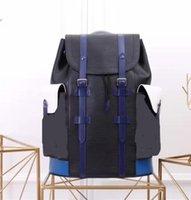 rucksäcke für motorräder großhandel-Echtes Leder Frauen Männer Rucksäcke Mode Rucksack Umhängetasche Gepäck Reisetasche Geldbörse 41379 Größe 29 * 44 * 7 cm Motorrad