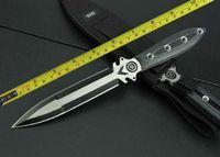 сапожный нож оптовых-Бесплатная доставка новый 440 двойной лезвие Micarta ручка загрузки Кинжал выживания охотничий нож VTH122