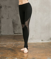 leggings de entrenamiento negros al por mayor-Hot Women Sexy Yoga Pants Pantalones deportivos negros Elástico Fitness Gym Pantalones Workout Running Leggings apretados femeninos Pantalones