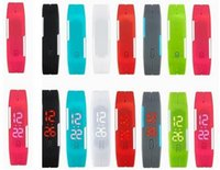 Donna Uomo Sport Athletic Running Walking Luxury Led Digital Display Bracciali Cintura in gomma luminosa Cronometro in silicone da polso