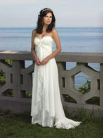 Wholesale beaded beach chiffon wedding dresses for sale - Group buy Elegant A Line Beach Wedding Dresses Sweetheart Chiffon Appliques Beaded Plus Size Bridal Gowns vestido de novia Wedding Party Gowns