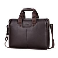 классическая сумочка оптовых-2019  Classic Design Large Size Leather Briefcases Men Casual Business Man Bag Office Briefcase Bags Laptop handbag L147