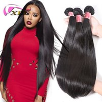 Wholesale indian human hair weft silky resale online - XBL Silky Straight Human Hair Weave Raw Indian Hair Machine Weft Top Premium Human Hair Bundles