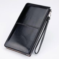 Wholesale Interior Design Pink - Women Wallets Candy Oil Leather Wallet Long Design Day Clutch Casual Lady Cash Purse Women Hand Bag Carteira Feminina HQB1673