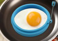 weißer eierhalter großhandel-Neue Silikon Omelett Form Spiegelei Pancake Ring Spiegelei Runde form Ei Form Kochen Form Frühstück Wesentliche