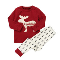 12m baby-pyjama großhandel-Weihnachtspyjamas für Mädchen Jungen Kinder Baumwolle Kleidung Sets Baby Pijamas