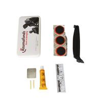 kit de parche de llanta al por mayor-1set Bike Gadgets de reparación de pinchazos Multiherramientas prácticas para ciclismo Bicicleta Conocer emergencia Parche de tubo de neumático de goma Kits de mantenimiento 1 4yq ZZ