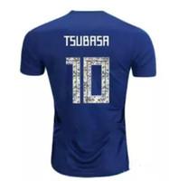fußball-kit-nummern großhandel-2018 Japan Trikot ATOM 10 CARTOON NUMBER 18 Tsubasa KAGAWA ENDO OKAZAKI NAGATOMO HASEBE KAMAMOTO Fußball-Set Shirt