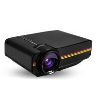tarjeta de video puerto al por mayor-Proyector de video 1080p Proyector de video LED con puertos VGA / AV / HDMI / USB / SD con altavoz para cine en casa Cine Entretenimiento Juegos Fiesta