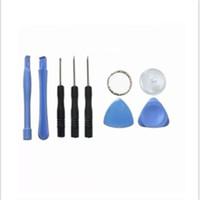 Wholesale metal pry tools - 8 In 1 Repair Pry Kit Multi Function Pentalobe Torx Slotted Screwdriver Metal Cell Phone Reparing Tools 0 53mq B