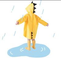 kızlar için su geçirmez yağmurluklar toptan satış-Çocuklar Dinozor Yağmurluk Su Geçirmez Yağmurluk Yağmur Geçirmez Polyester Erkek Çocuk Kız Rüzgar Geçirmez Panço Anaokulu Öğrenci Çocuk Yağmurluk 1-7 T