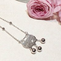 Wholesale women ankles locked chains resale online - Ankle chain Lovely Wallet Charm Small Bell Glossily Ball Silver Tail Adjustable