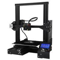 3d prusa i3 venda por atacado-Creality3D Ender - 3 V-slot Impressora Prusa I3 DIY 3D Kit 220 x 220 x 250 mm com MK10 Extrusora 1.75mm 0.4mm Bico 0.1mm Gravura Precisão VB