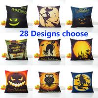 Wholesale anime pillowcases for sale - Group buy Halloween Pillow Case Pumpkin Bat Linen Cartoon Anime Pillowcase Home Sofa Car Decorative Xmas Gifts Without core cm Design HH7