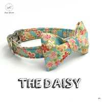 Wholesale Xs Dog Collar Green - the soft breeze dog or cat collar set with bow tie personal custom pet pupply designer product dog &cat necklace XS-XL