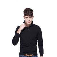 Wholesale clothes classic men s for sale - Brand Clothing hot Men s Crocodile Embroidery Polo Shirt qulity Polos Men Cotton Long Sleeve shirt s ports jerseys Plus M XL Hot Sale