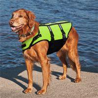Wholesale Life Vests - 2018 Dog Life Jacket Dog swimming Vest Pet Safety Clothes Small Large Dog Swimwear