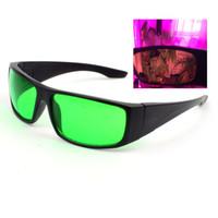 invernadero uv al por mayor-Hidroponía para interiores LED Grow Glass Room Glasses Anti UV y luces rojas para iluminación LED intensa Protección ocular visual para jardines Invernaderos