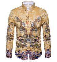 dessins de chemises pour hommes achat en gros de-Nouveau Hommes Chemises D'affaires À Manches Longues Col rabattu 100% Coton Mâle Chemise Slim Fit Designs Populaires N837
