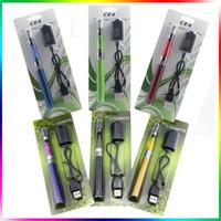 Wholesale Ego Vape Pen Kit - Ego Ce4 Blister Kits CE4 Egot Starter Kit Ce4 Clearomizer EgoT Full Capacity Battery 650mah 900mah 1100mah Vape Pen Kits