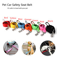 Wholesale dog collar for cars online - Adjustable Pet Cat Dog Car Safety Belt Collars Pet Restraint Lead Leash Travel Clip Car Safety Harness For Most Vehicle