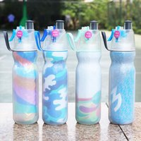 Wholesale gym water bottles resale online - 590ML Water Bottle Sport Spray Bottle Moisturizing Bicycle Cycling Sports Gym Sip Squeeze Cooling Drinking Bottles OOA5278