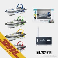 Wholesale Plastic Boats - 24pcs lot Mini RC Boat Racing Speedboat 4CH Radio Remote Control Boats Toys for Kids Christmas Gift