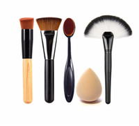 камуфляжный пластик оптовых-4 pcs New arrival Plastic Camouflage Brush Synthetic Hair Makeup Brushes Sponge Powder Puff Kit Pinceis Maquiagem for Beauty