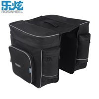 Wholesale rear rack bag pannier for sale - Group buy ROSWHEEL in L Bicycle Bags Black Cycling Rear Double Side Rack Bag Tail Seat Pannier Outdoor Bicycle Saddle Storage Bags